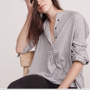 NEW Madewell Market Popover Shirt in Malone Plaid